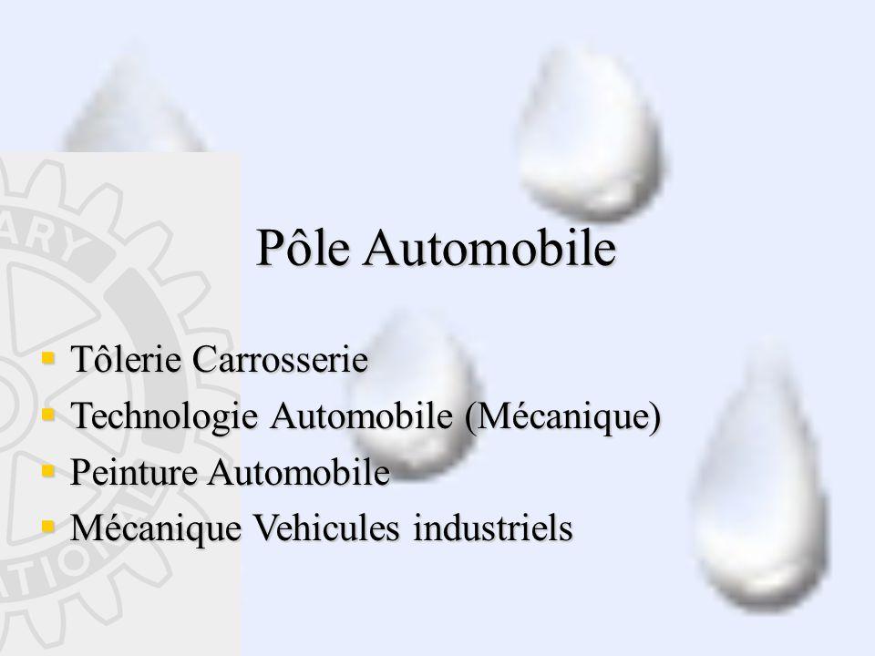 Pôle Automobile  Tôlerie Carrosserie  Technologie Automobile (Mécanique)  Peinture Automobile  Mécanique Vehicules industriels