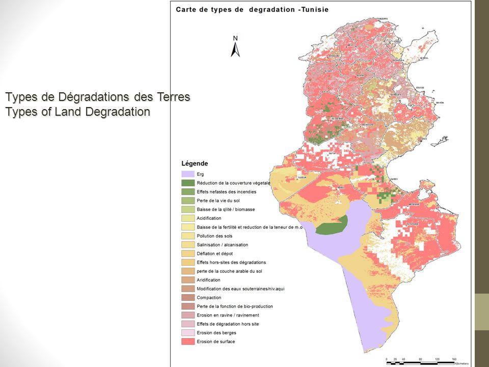Types de Dégradations des Terres Types of Land Degradation