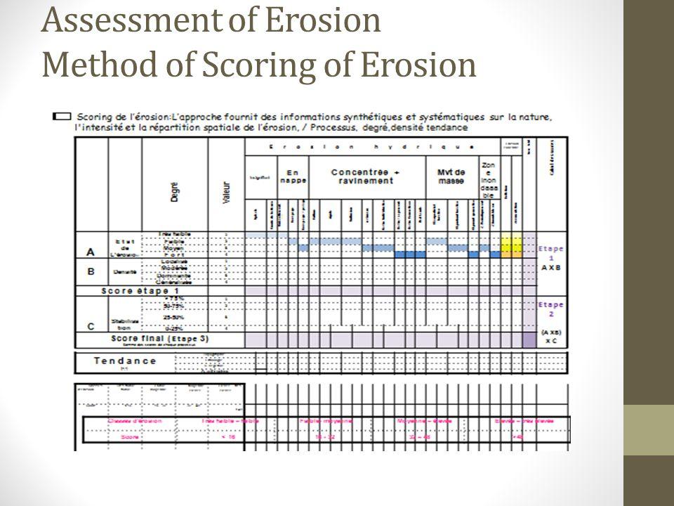 Assessment of Erosion Method of Scoring of Erosion