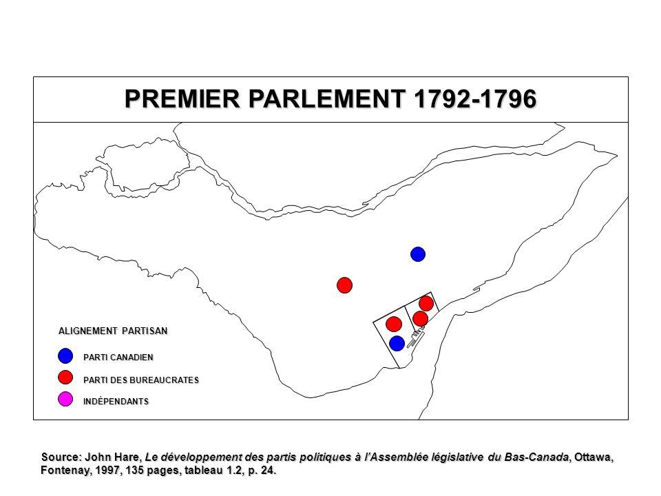 RECENSEMENT DE 1831: CATHOLIQUES EN % DE LA POPULATION TOTALE POPULATION DE RELIGION CATHOLIQUE 80,0-89,9 % 60,0-79,9 % 40,0-59,9 % 20,0-39,9 % MOINS DE 20,0 % 90,0 % ET PLUS Québec T.-R.