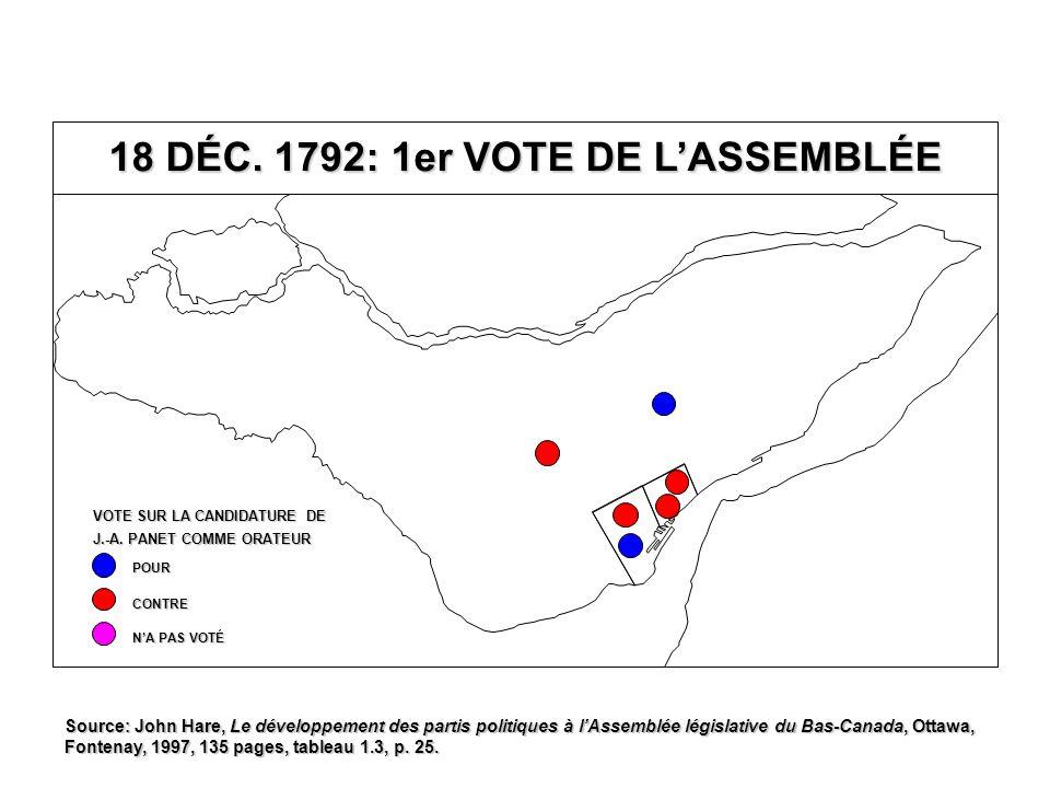 NEUVIÈME PARLEMENT 1816-1820 Québec T.-R.