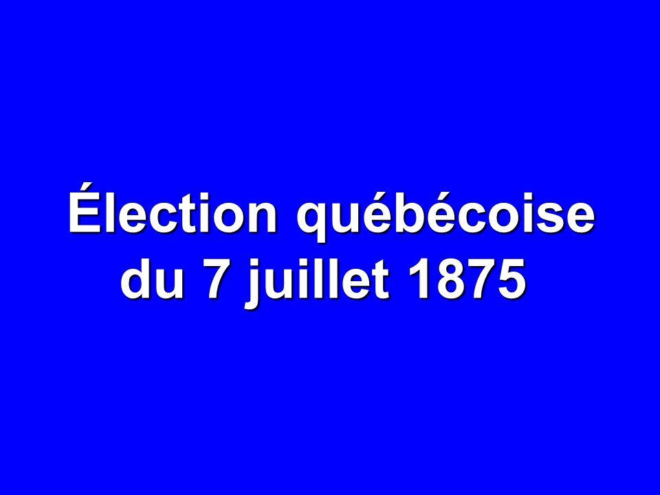 Élection québécoise du 7 juillet 1875