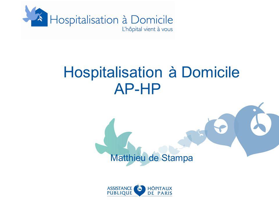 Quelques dates 1957: Première HAD en France APHP (Home Care NYC) 1970: Reconnaissance légale (loi hospitalière du 31/12/70) 1991: « Alternative » à l'hospitalisation conventionnelle (loi sur réforme hosp.) 1992: Définitions conditions de fonctionnement dont la médicalisation (Décret 92-1102 du 2/10/1992) et 24/7J 2005: Tarification à l'activité 2006: Circulaires sur la définition des missions de l'HAD « Assurer au domicile du patient, pour une période limitée, mais révisable en fonction de l'évolution de son état de santé, des soins médicaux et paramédicaux continus et coordonnés.