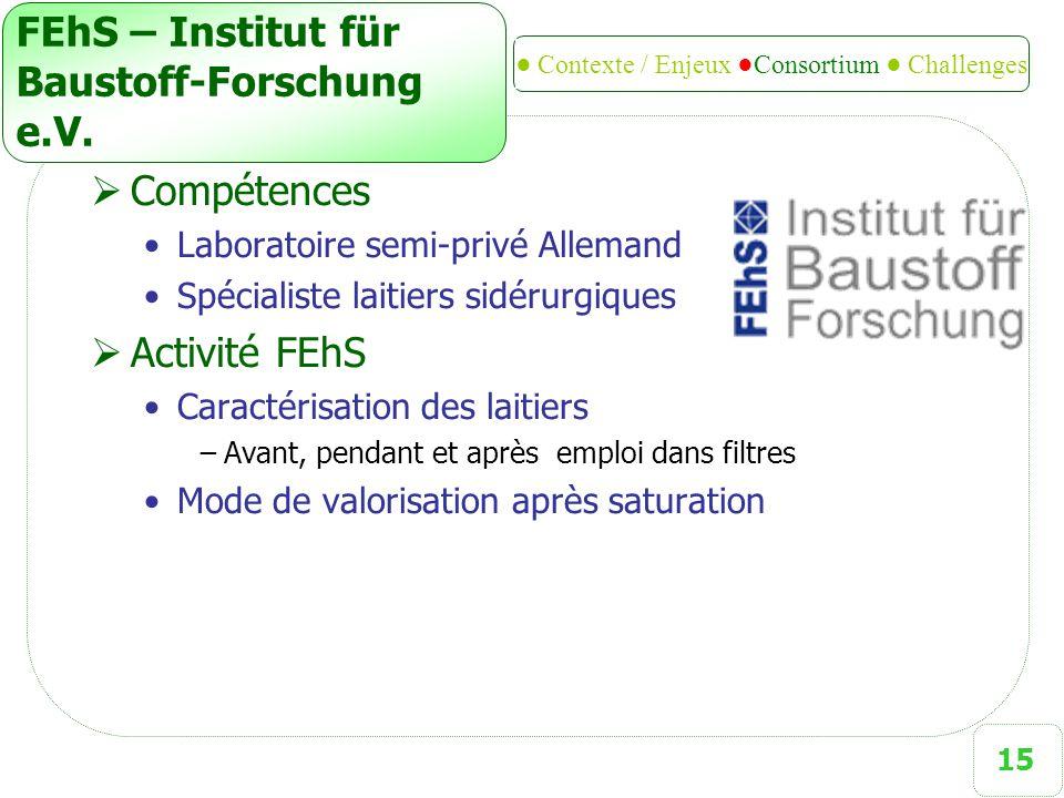 15 FEhS – Institut für Baustoff-Forschung e.V.
