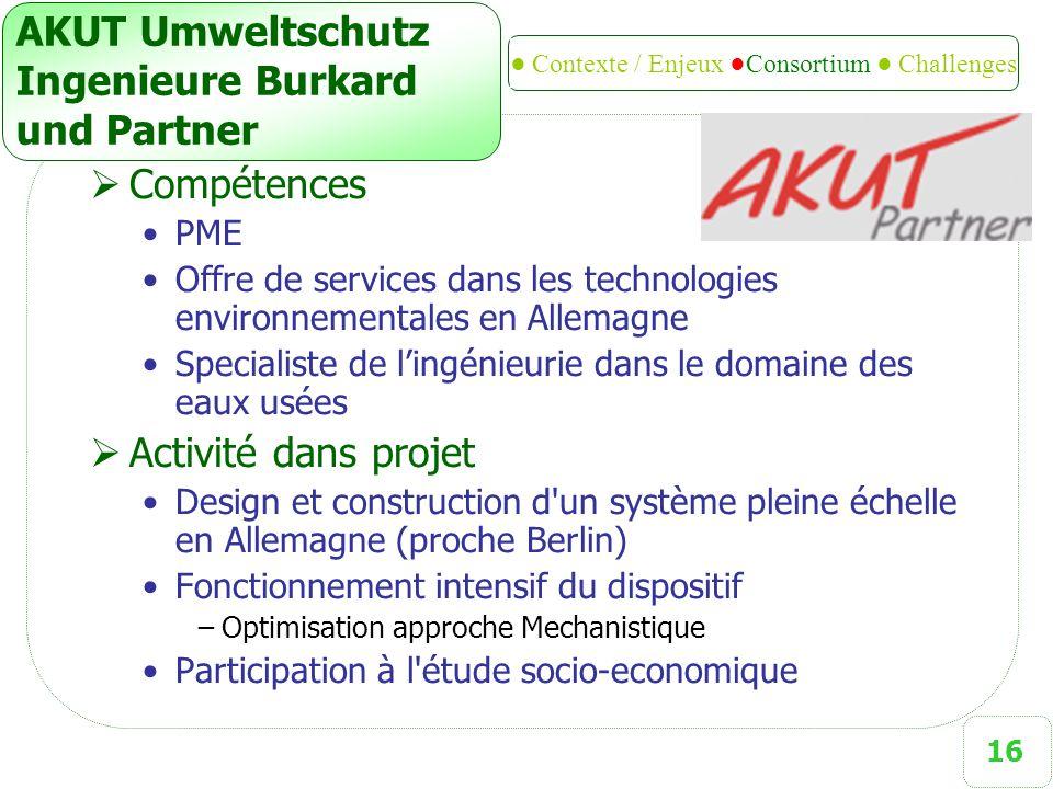 16 AKUT Umweltschutz Ingenieure Burkard und Partner  Compétences PME Offre de services dans les technologies environnementales en Allemagne Specialis