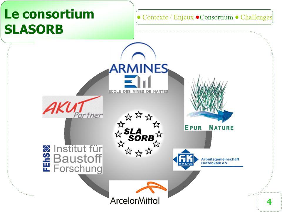 4 Le consortium SLASORB ● Contexte / Enjeux ●Consortium ● Challenges