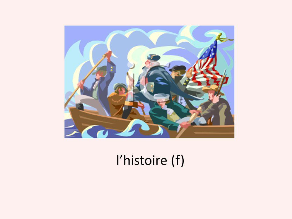 l'histoire (f)