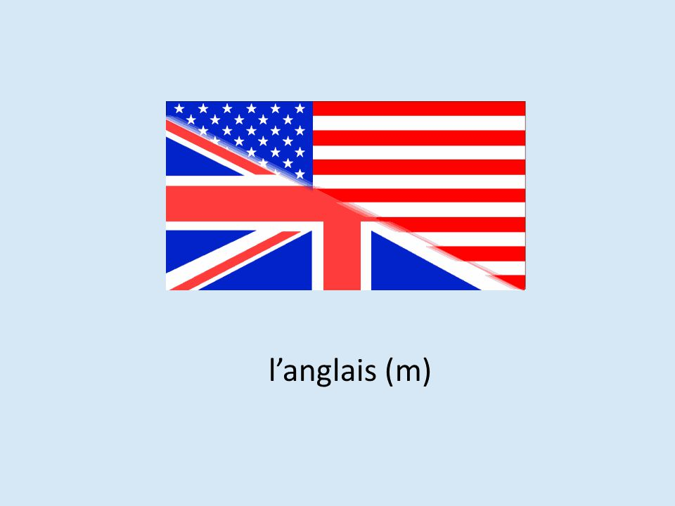 l'anglais (m)