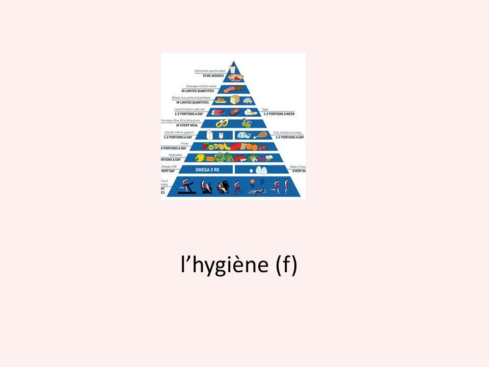 l'hygiène (f)