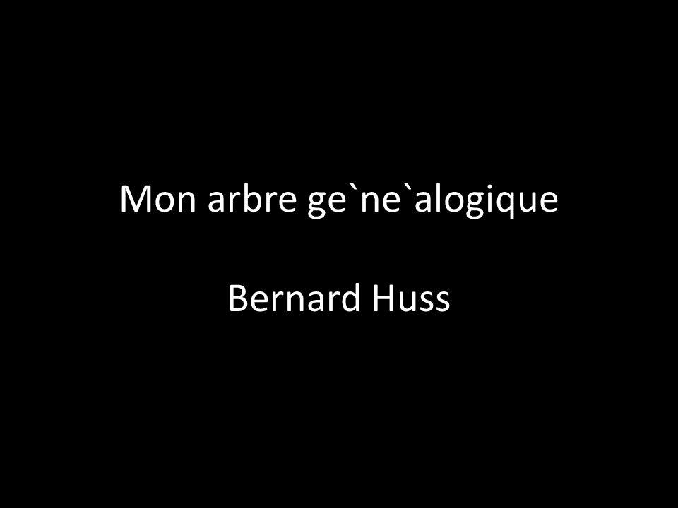 Mon arbre ge`ne`alogique Bernard Huss