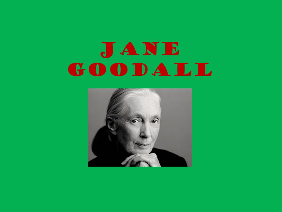 Jane Goodall est née le 3 abril de 1934 à Londres.