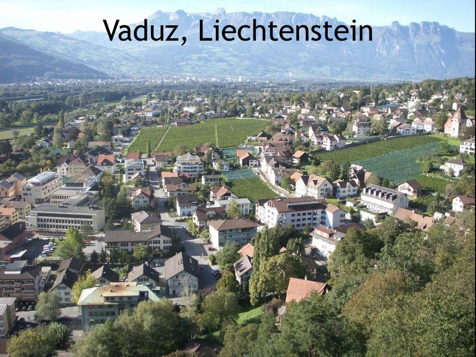 Principauté du Liechtenstein 160 km/2  Superficie: 160 km.