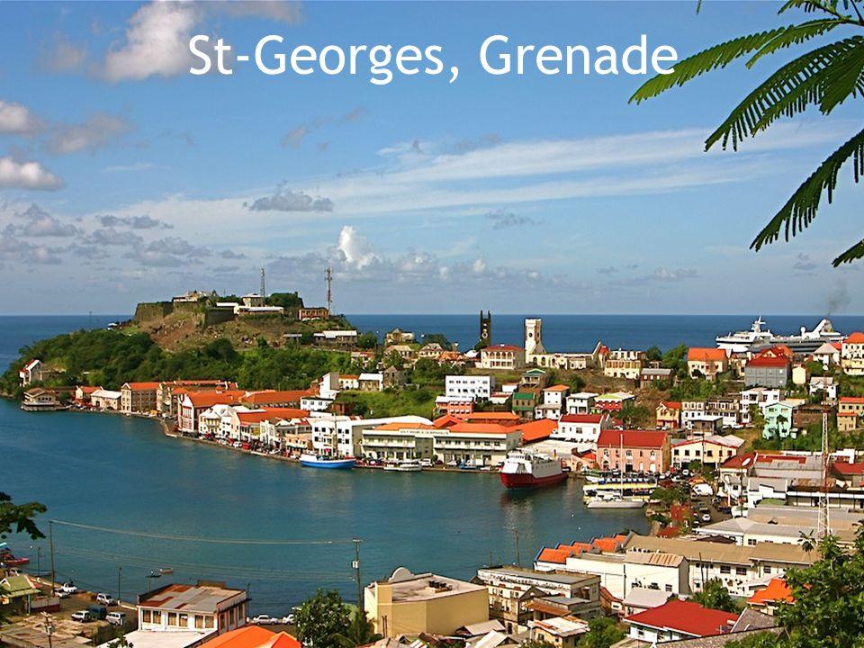 Grenade 350 km/2  Superficie: 350 Km/2  Nombre d'habitants: 90,000  Capitale: St-Georges  Situé: Antilles  Langue officielle: Anglais  Indépendance: Du Royaume-Uni le 7 février 1974