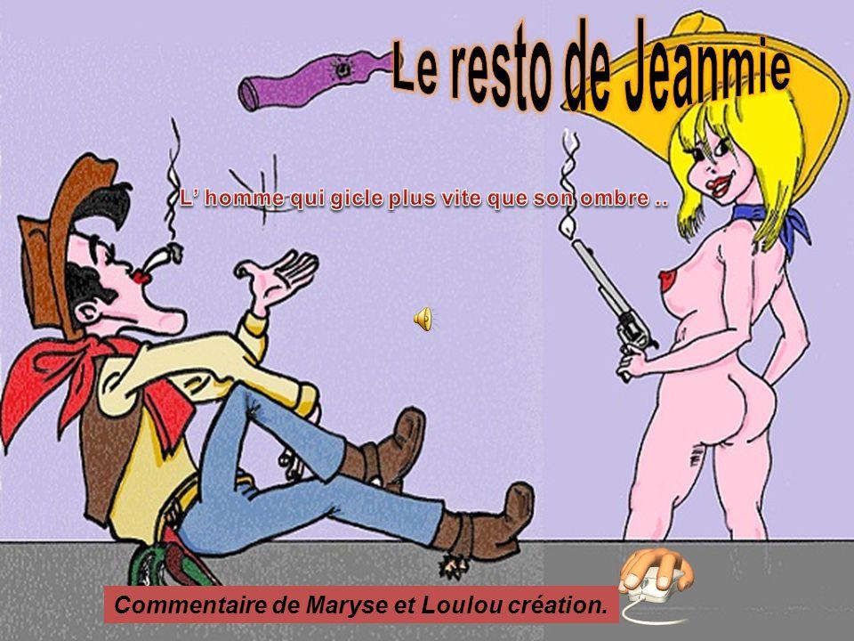 Commentaire de Maryse et Loulou création.