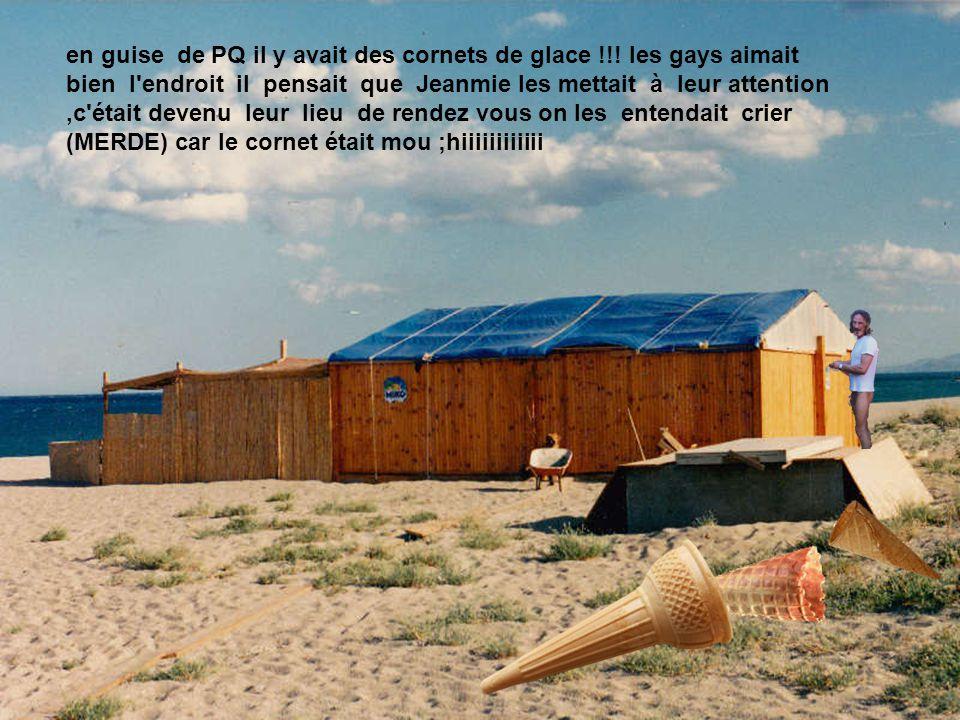 Sa baraque de glace. il a amassé une petite somme pour se payer sa baraque au bord de la mer !!.