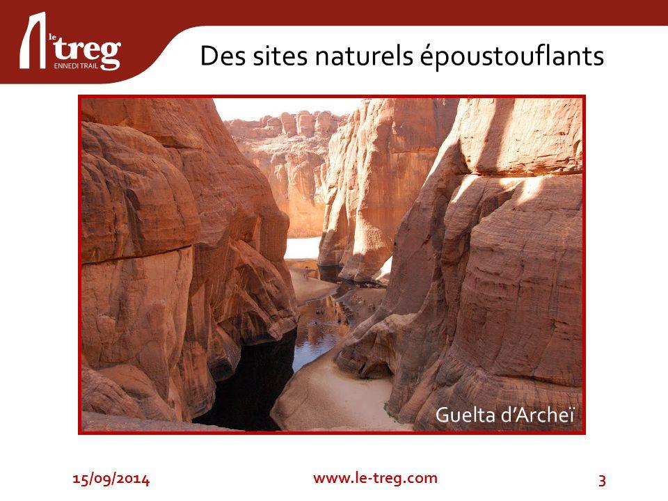 15/09/20143www.le-treg.com Des sites naturels époustouflants Guelta d'Archeï