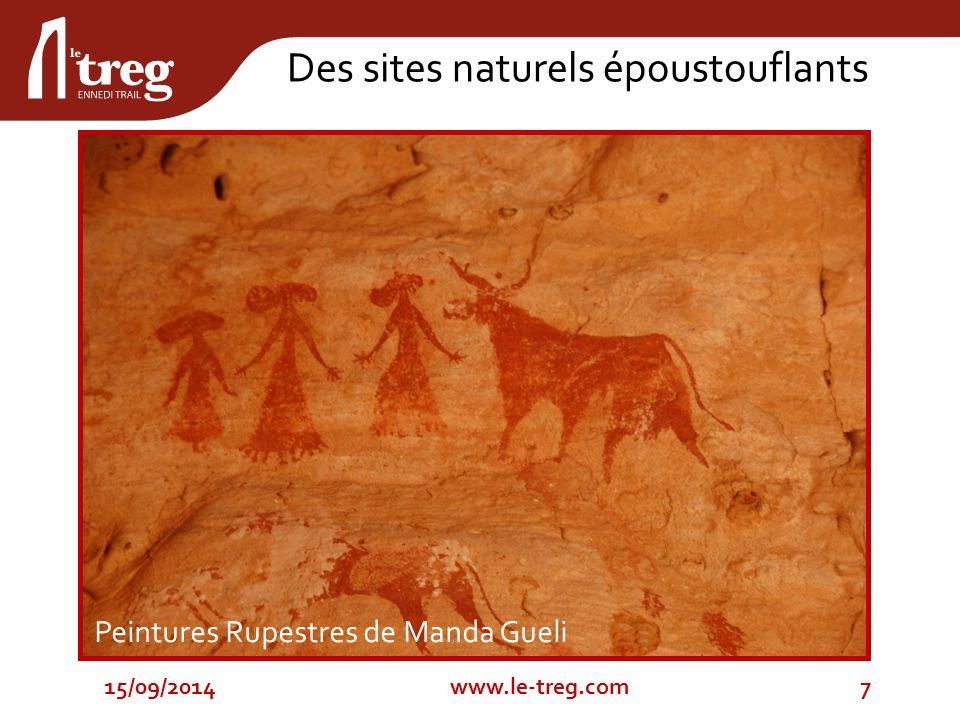 Peintures Rupestres de Manda Gueli 15/09/20147www.le-treg.com Des sites naturels époustouflants