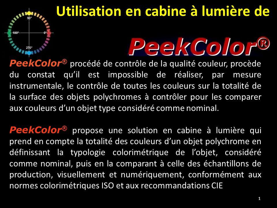 PeekColor ® procédé de contrôle de la qualité couleur, procède du constat qu'il est impossible de réaliser, par mesure instrumentale, le contrôle de t