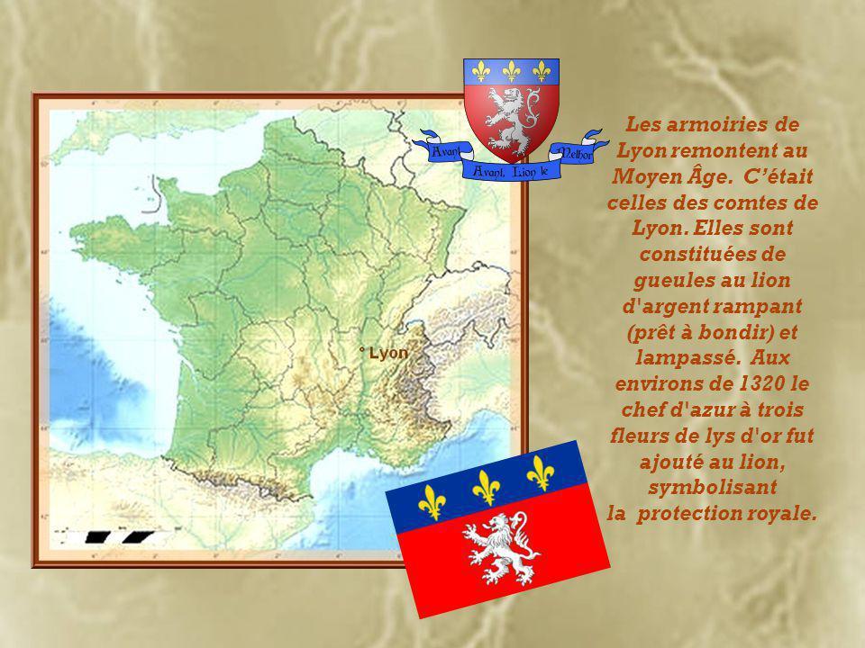 Les armoiries de Lyon remontent au Moyen Âge.C'était celles des comtes de Lyon.