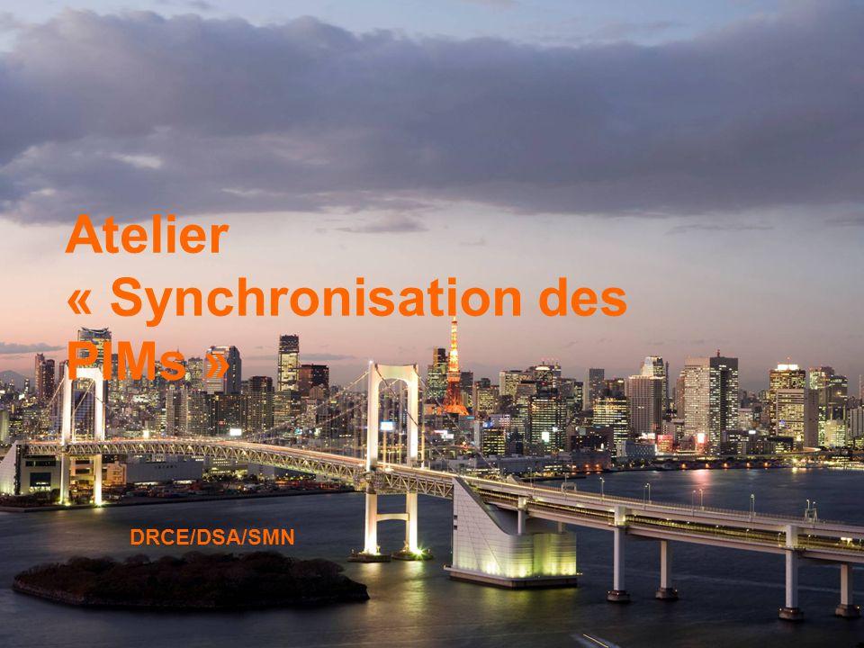 1 Atelier SMN 1 Atelier « Synchronisation des PIMs » DRCE/DSA/SMN