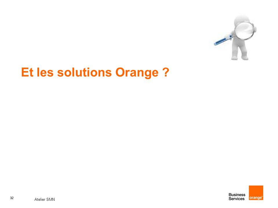 32 Atelier SMN 32 Et les solutions Orange ?