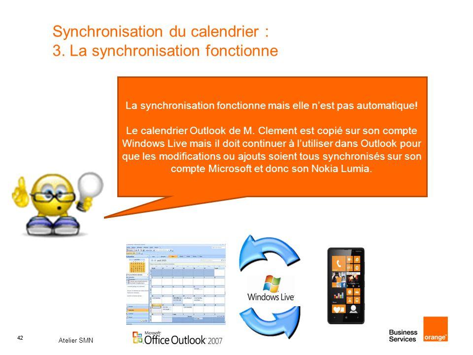42 Atelier SMN 42 Synchronisation du calendrier : 3.