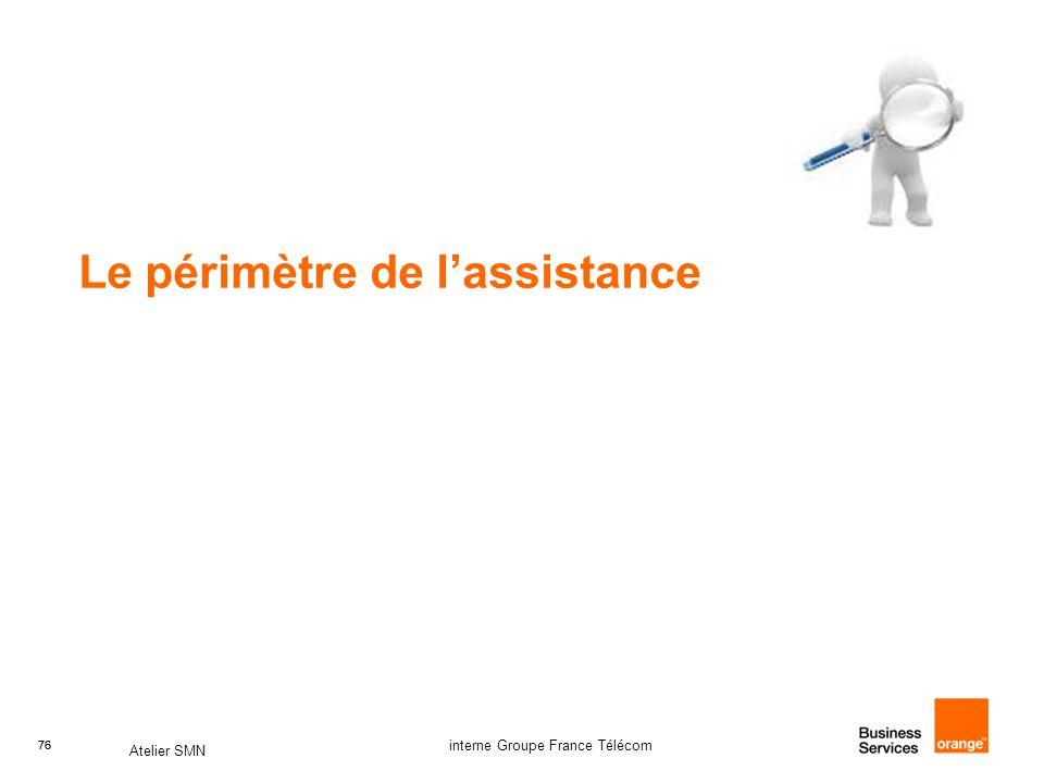 76 Atelier SMN 76 interne Groupe France Télécom Le périmètre de l'assistance