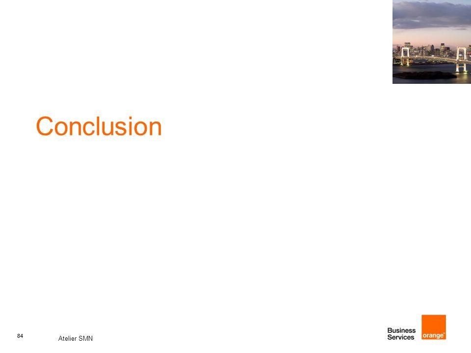 84 Atelier SMN 84 Conclusion