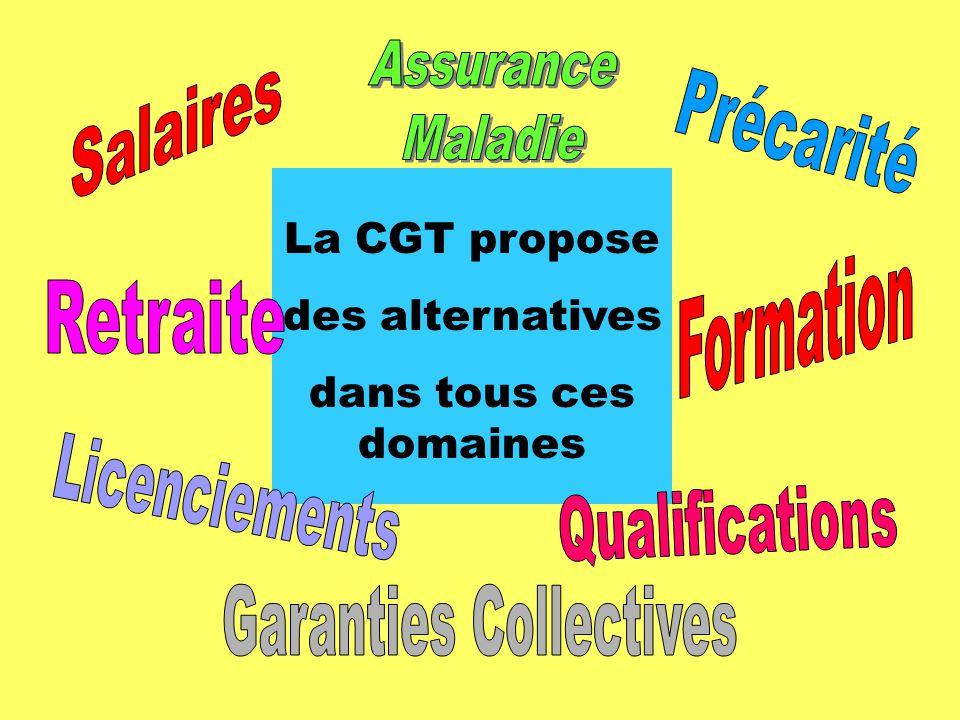 La CGT propose des alternatives dans tous ces domaines
