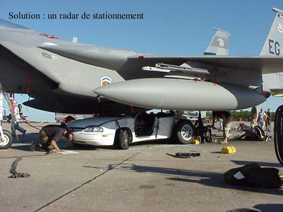 Solution : un radar de stationnement