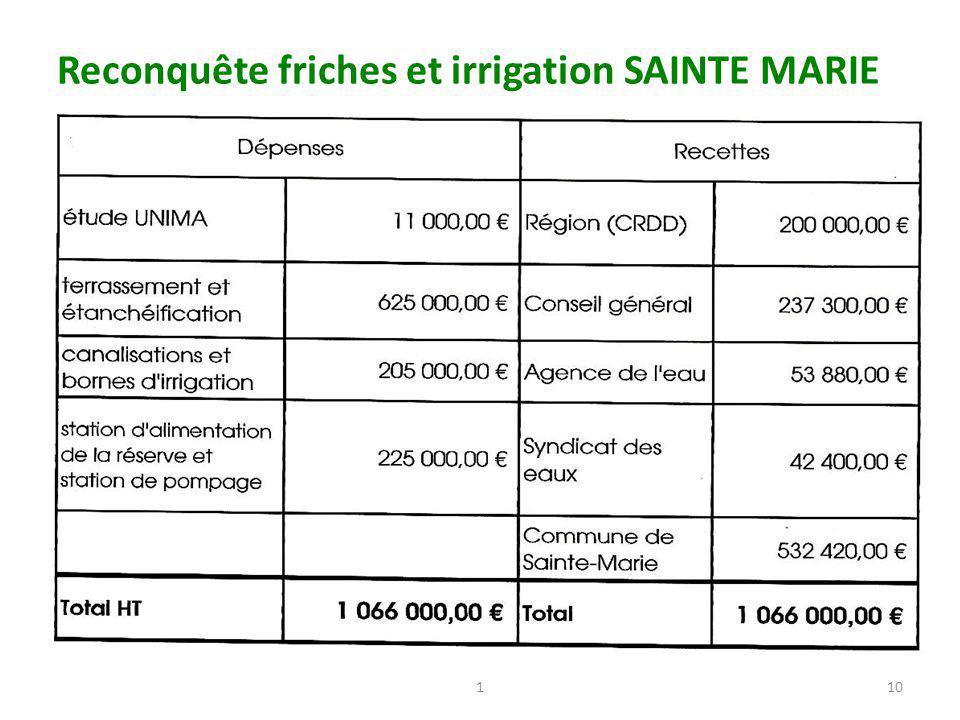 Reconquête friches et irrigation SAINTE MARIE 110