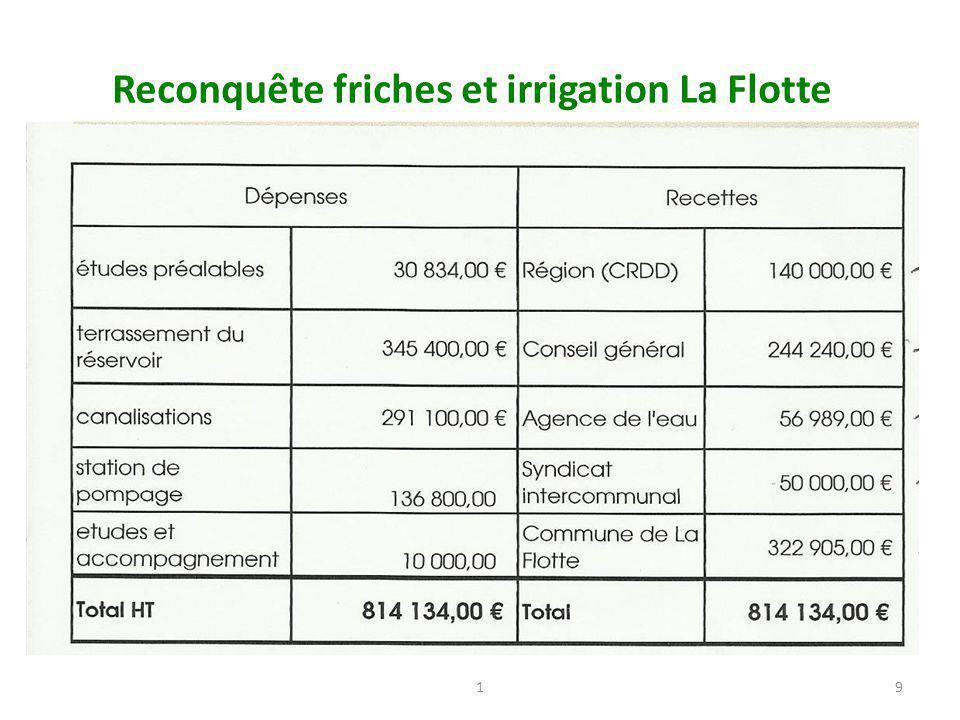 Reconquête friches et irrigation La Flotte 19