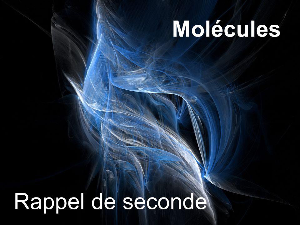 Molécules Rappel de seconde