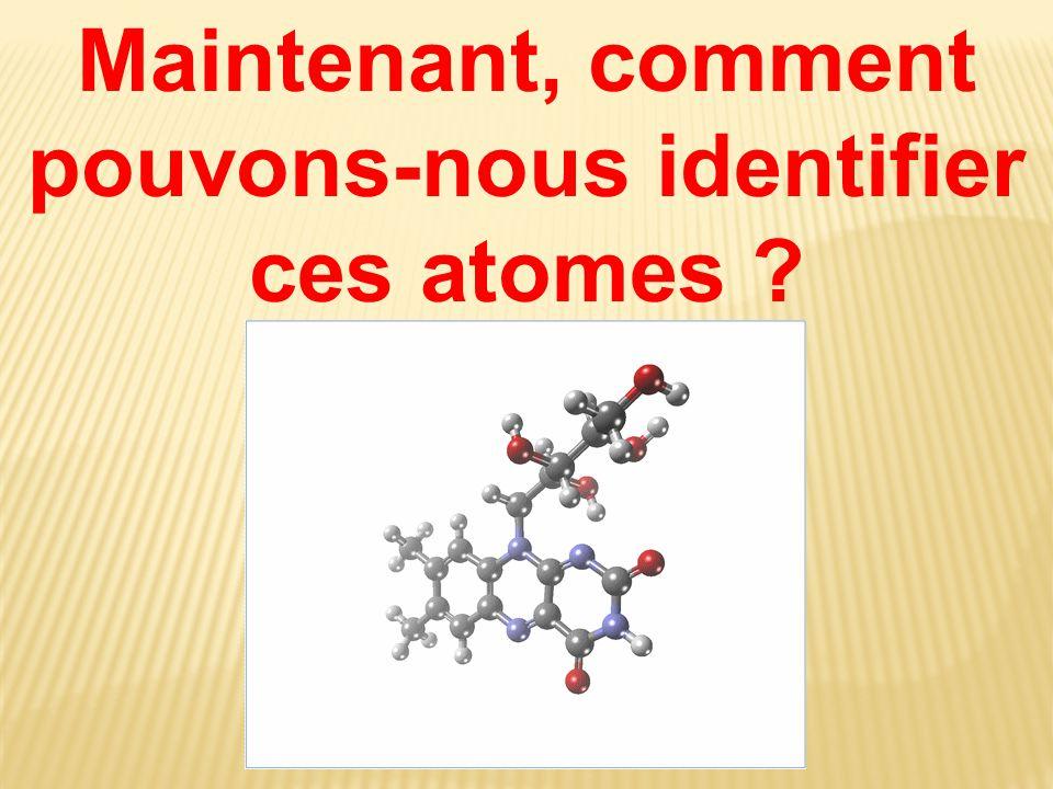 Maintenant, comment pouvons-nous identifier ces atomes ?