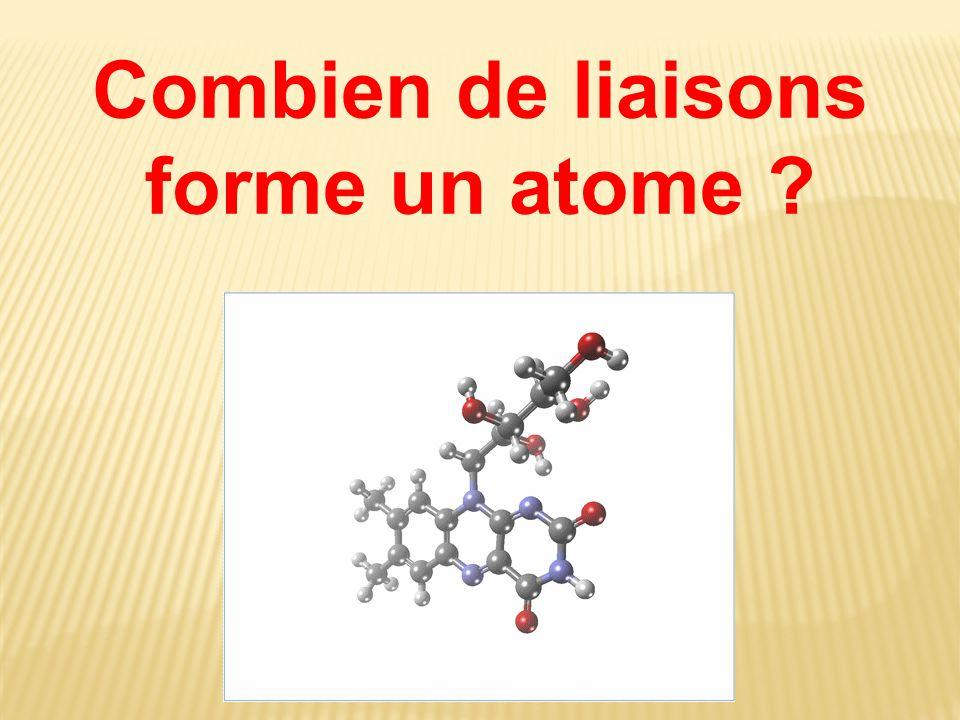 Combien de liaisons forme un atome ?