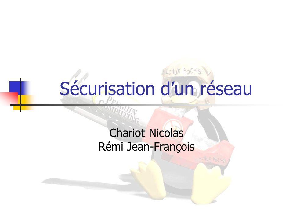Sécurisation d'un réseau Chariot Nicolas Rémi Jean-François