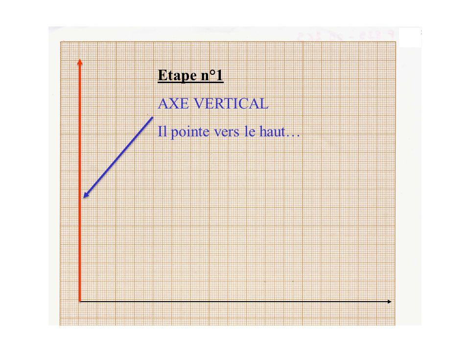 Etape n°1 Je trace les deux axes au crayon de papier sans appuyer trop fort. (si je dois effacer ceci évite les traces…)