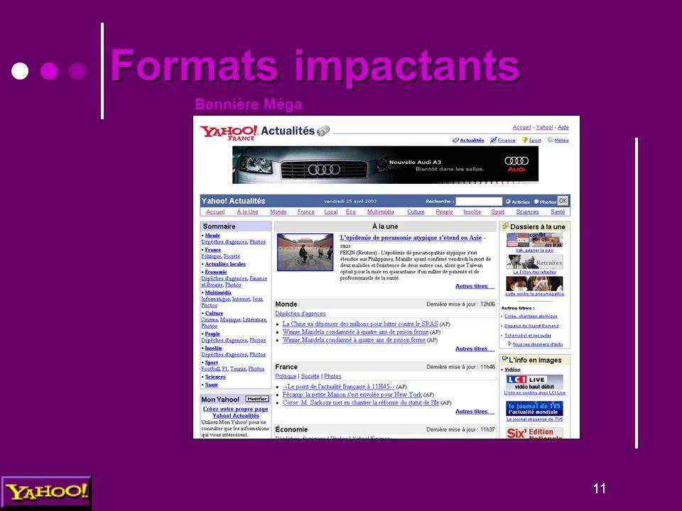 11 Bannière Méga Formats impactants