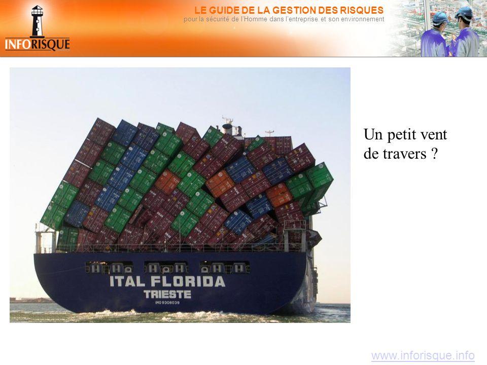 www.inforisque.info LE GUIDE DE LA GESTION DES RISQUES pour la sécurité de l'Homme dans l'entreprise et son environnement Un petit vent de travers ?