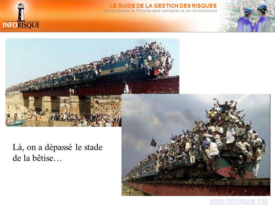 www.inforisque.info LE GUIDE DE LA GESTION DES RISQUES pour la sécurité de l'Homme dans l'entreprise et son environnement Là, on a dépassé le stade de