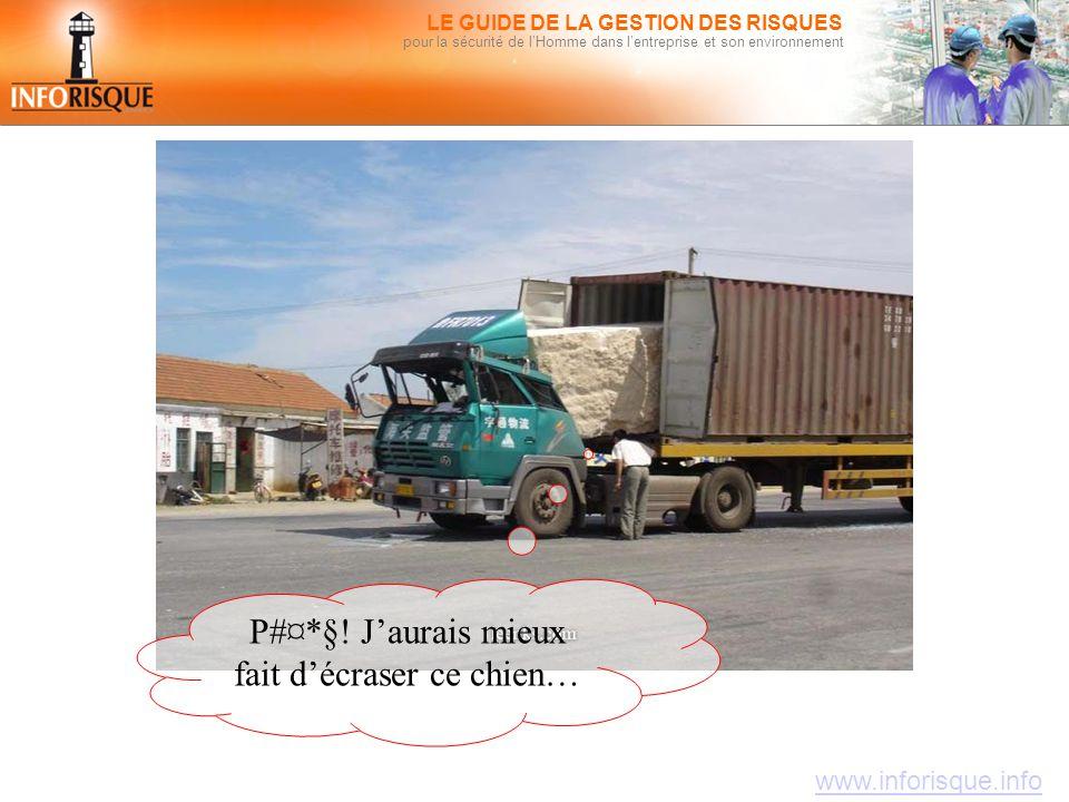 www.inforisque.info LE GUIDE DE LA GESTION DES RISQUES pour la sécurité de l'Homme dans l'entreprise et son environnement P#¤*§! J'aurais mieux fait d