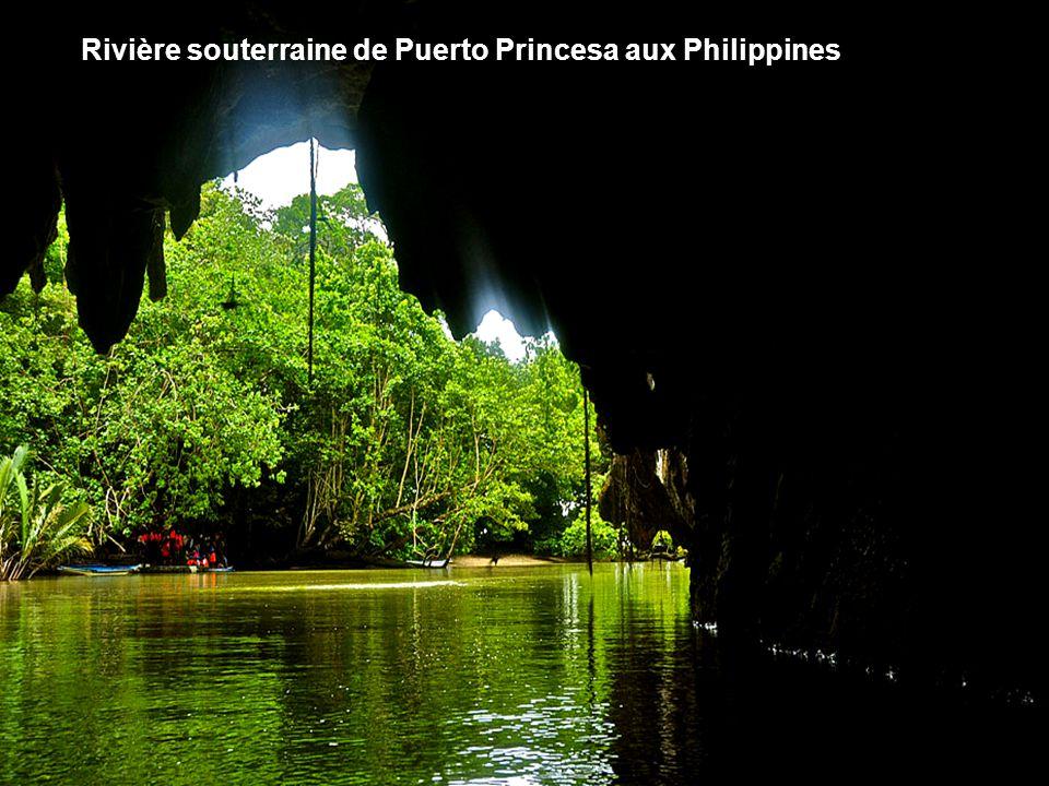 Rivière souterraine de Puerto Princesa aux Philippines
