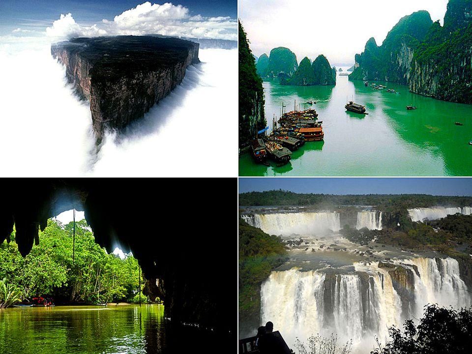 Les sept merveilles naturelles choisies : = La forêt amazonienne d Amérique du Sud = La Baie d Halong au Vietnam = Les Cataractes argentines de Iguazú = L île de Jeju en Corée del Sud = Le Parc National Komodo en Indonésie = La rivière souterraine de Puerto Princesa aux Philippines = La Montagne de la Table en Afrique du Sud