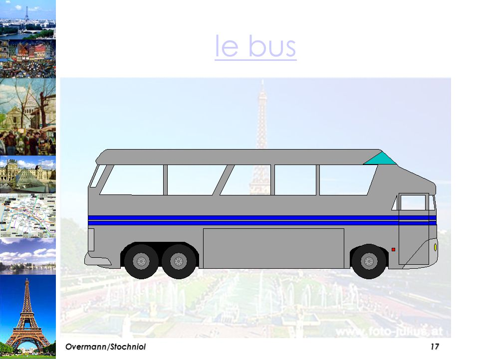 16Overmann/Stochniol A Paris, il a quatre variantes pour voyager en ville...