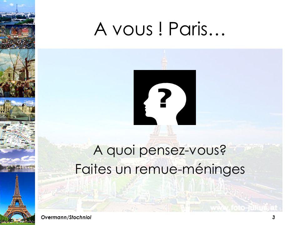 2Overmann/Stochniol CHAPITRES I:Les curiosités II:Les transports III:L'hébergement IV:La population V:La culture VI:En supplément: Les Champs- Elysées