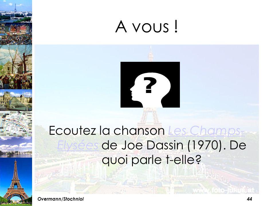 43Overmann/Stochniol VI Les Champs-Elysées