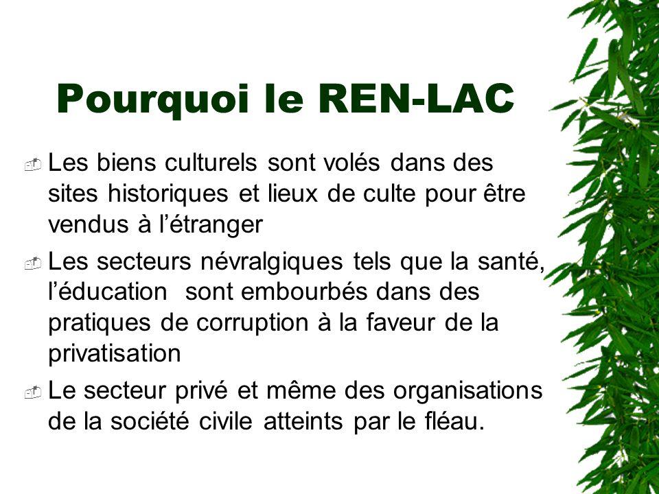 """Pourquoi le REN-LAC? Dans la mesure où l'État ne se préoccupait peu de lutte contre la corruption, il était du """"devoir moral"""" des acteurs de la sociét"""