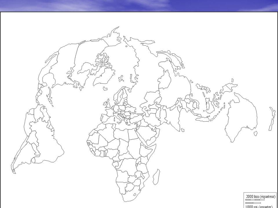 Préparation du fond de carte : ressources maritimes d'après le planisphère de la page 171 – Dix plus grands ports mondiaux