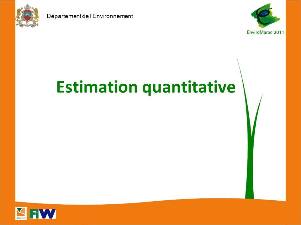 Département de l'Environnement Estimation quantitative