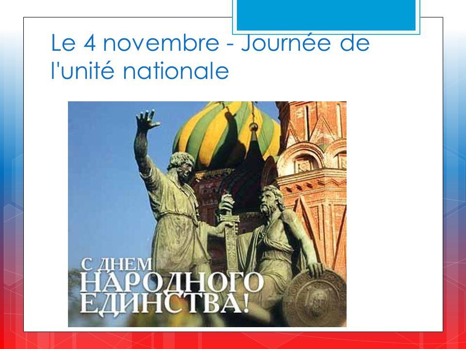 Le 4 novembre - Journée de l unité nationale